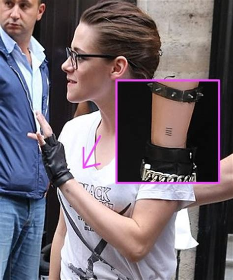 kristen stewart tattoos kristen stewart finally reveals secret on wrist