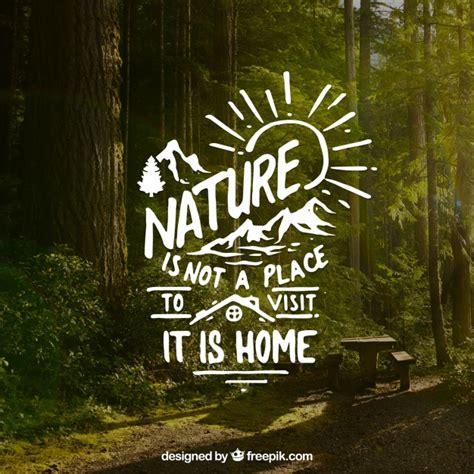 font design nature beschriftung und zitat design auf wald hintergrund