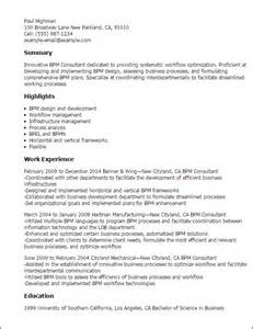 sle resume business process management augustais