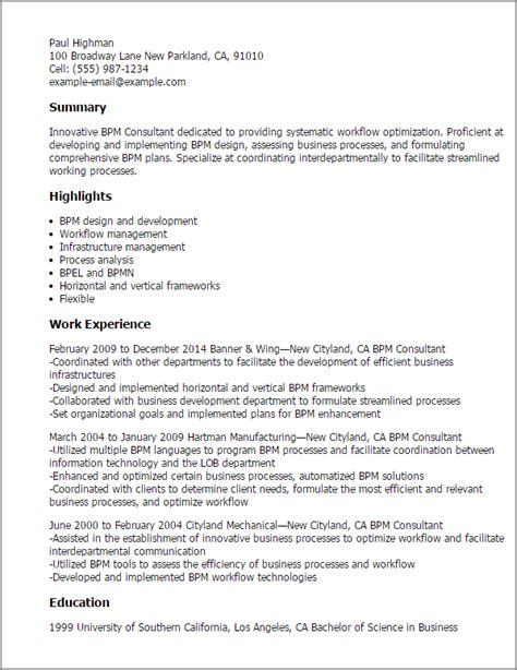 sle resume business process management augustais