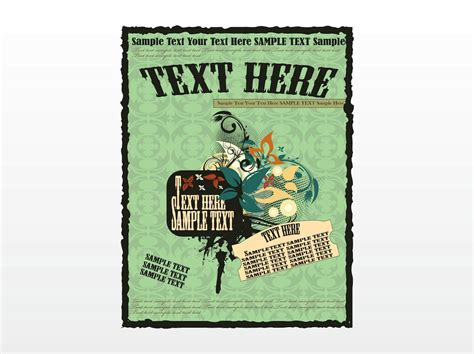 Retro Poster Template retro poster template vector graphics freevector