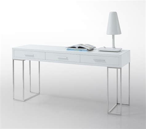 sheldon modern white lacquer desk