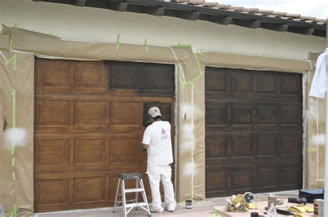 faux wood garage door paint faux garage doors