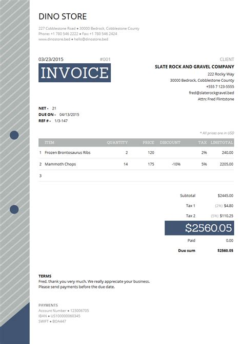 corporate invoice template corporate invoice template easy