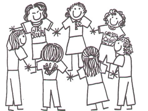 coloring page of a girl scout girl scouts coloring pages bestofcoloring com