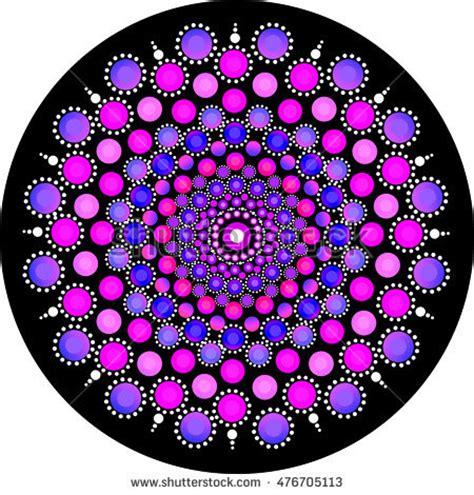 dot pattern mandala mandala stone dots stock illustration 476705113 shutterstock
