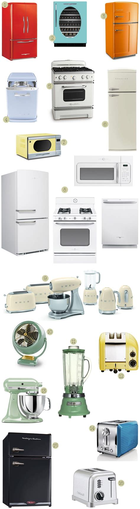 Retro Style Kitchen Appliances | a round up of vintage retro styled appliances nest