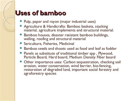 Bamboo & its uses