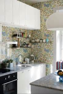wallpaper ideas for kitchen 35 ideas of using creative wallpapers on a kitchen