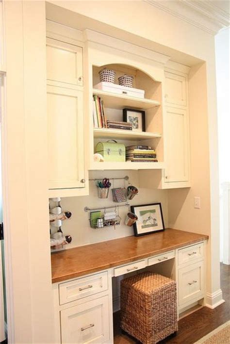 small ottoman under kitchen office nook for the home pinterest