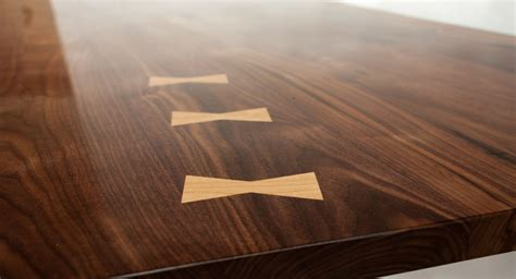 Hand Made Live Edge Walnut And Hard Maple Dining Table by