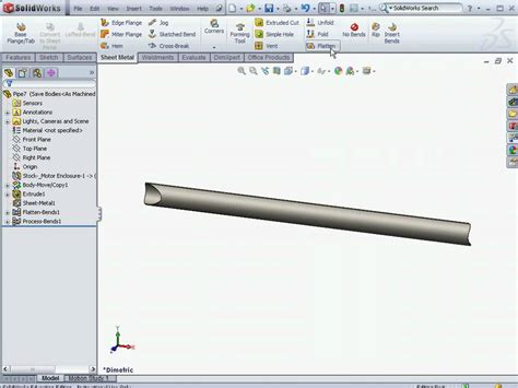 solidworks flat pattern drawing view solidworks fsae tutorial frame drawing cutlist flat
