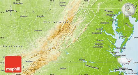 physical map of virginia physical map of virginia