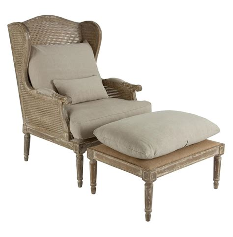 wing chair with ottoman stephen hemp french country wing back chair with ottoman