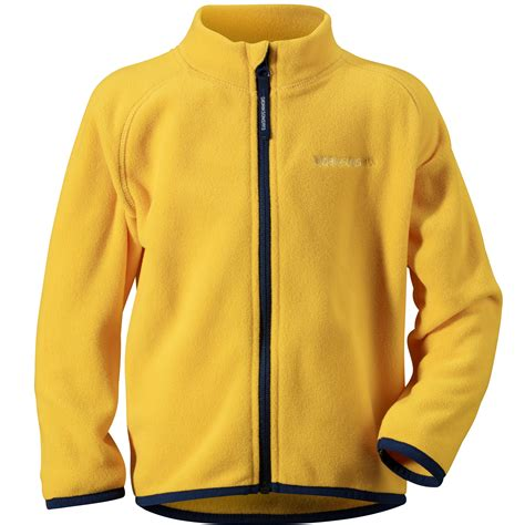 Jaket Yellow didriksons monte fleece jacket yellow nipper skipper