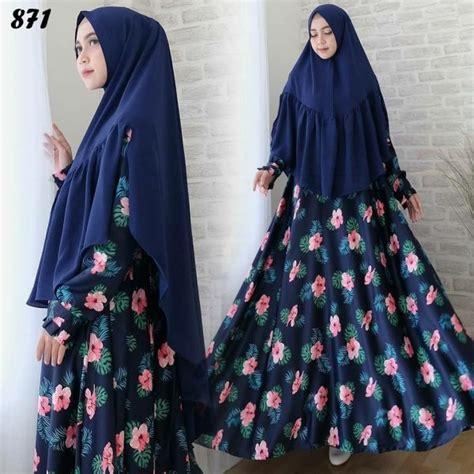 Gamis Dress Maxmara Motif Zeea syari maxmara motif bunga c871 baju muslim cantik