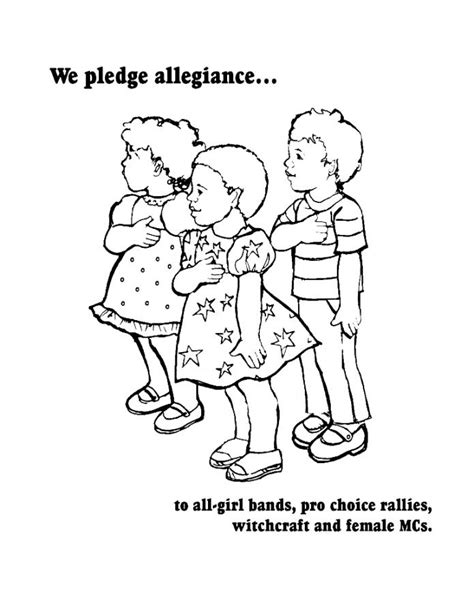 Grassrootsfeminism Net Pledge Of Allegiance Coloring Page
