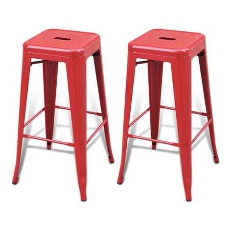 bar high stools bar chair high chairs bar stools square 2 pcs red vidaxl com