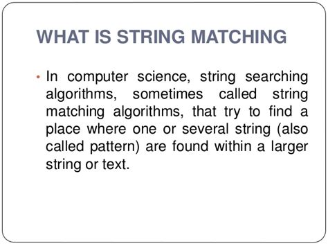 string pattern matching algorithm in c string matching algorithms