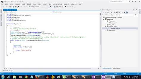 tutorial visual studio 2012 web service create simple web service in visual studio 2008 2010 2012