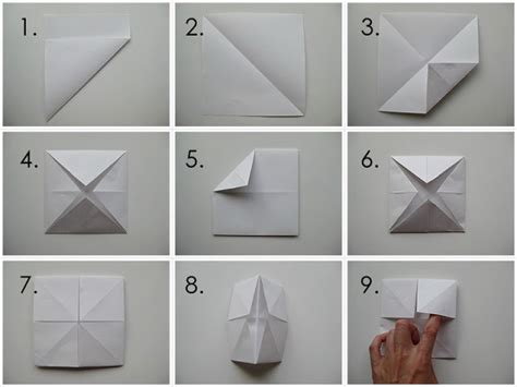 How To Make A Paper Origami Fortune Teller - my handmade home tutorial origami fortune teller