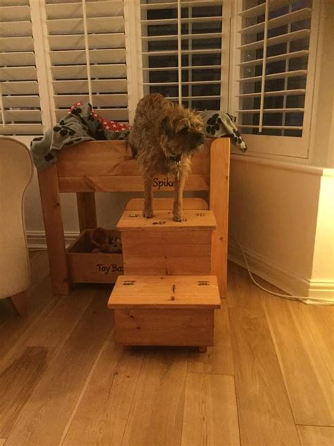 handcrafted wooden dog bed  spike curtain twitcher