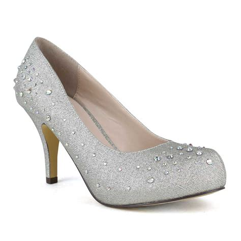 Shoes 1005 Heels Silver by Ankle Heel Boots