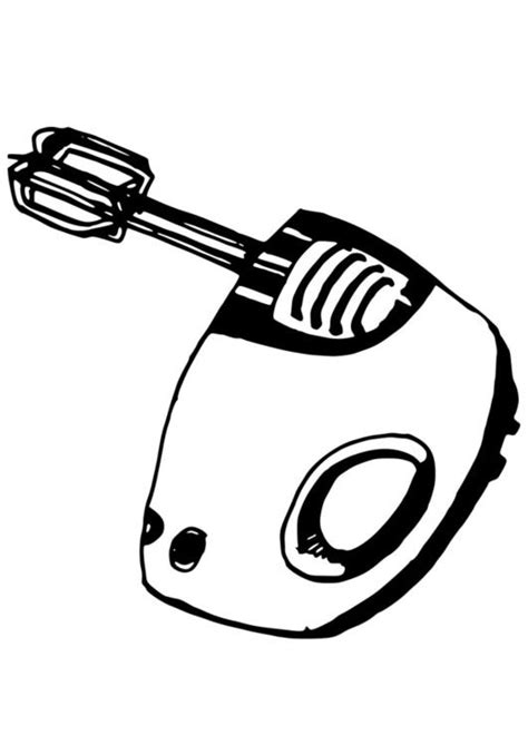 kitchen mixer coloring page coloring page electronic mixer img 19085