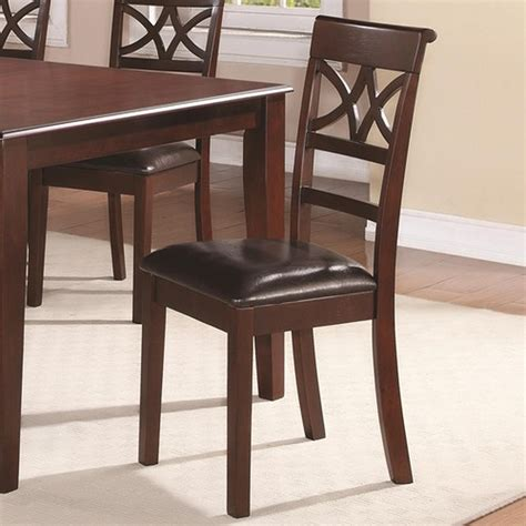 coaster 100642 brown wood dining chair a sofa