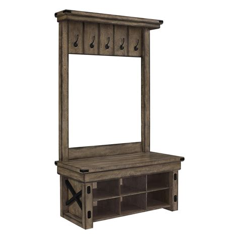 hall tree storage bench altra furniture wildwood entryway hall tree with storage