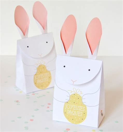 paper bag bunny template papercraftsquare new paper craft easter papercraft