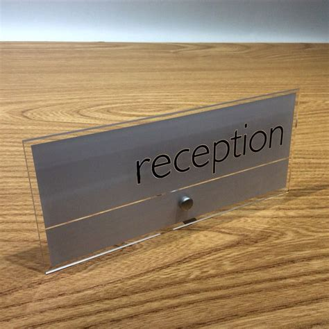 Reception Desk Signs 1000 Images About Freestanding Desk Signs On Receptions Reception Desks And Nameplate