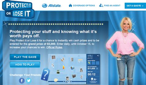 Allstate Rewards Gift Cards - allstate protect it or lose it sweepstakes