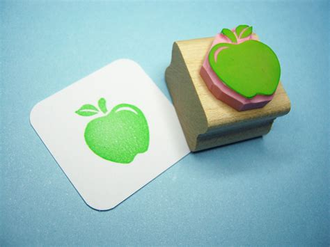 rubber embossing sts apple rubber st