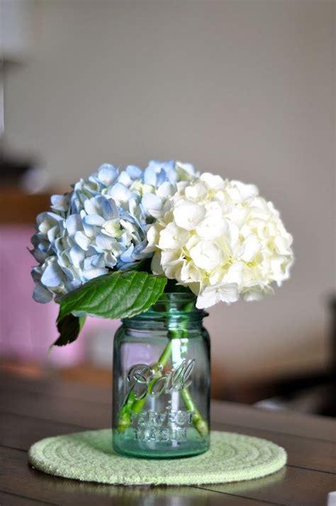 jar centerpieces for bridal shower hydrangeas jars search reception inspiration jar