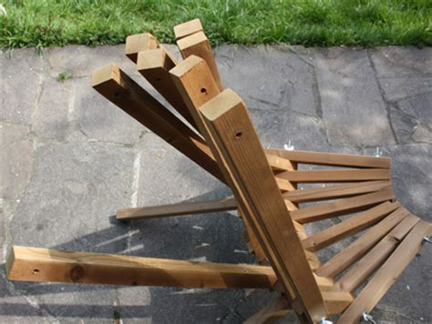 bauanleitung stuhl holz klappstuhl aus thermoholz bauanleitung