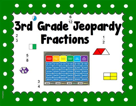 Envision Math 3rd Grade Worksheets by 3rd Grade Fraction Jeopardy Like Powerpoint