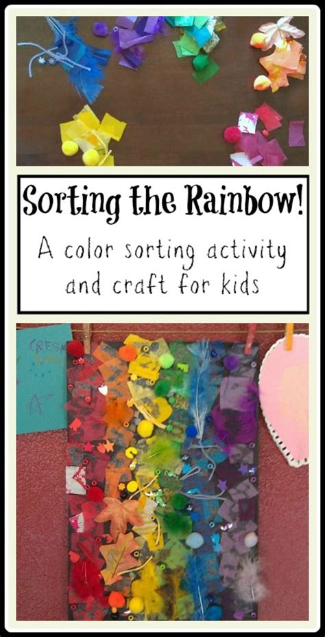 rainbow craft and activity for evolving