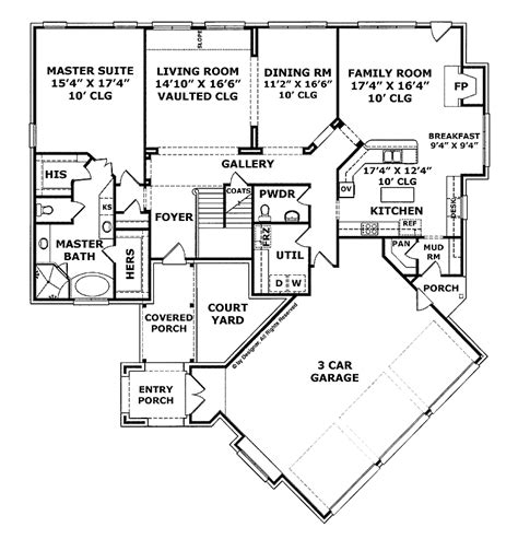 cost efficient house plans 4 bedroom house plans side