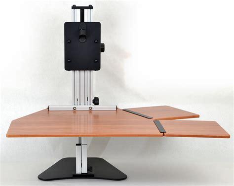 adjustable height work detachable side work surfaces adjustable height desk
