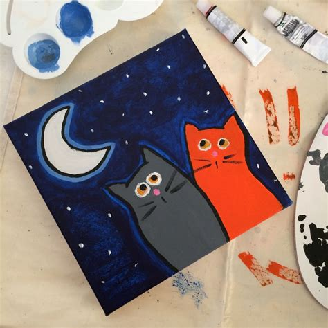 easy cat painting ideas 45 best images about painting ideas on
