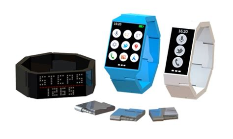 Smartwatch Unique Blocks Modular Concept Smartwatch Can Be Customised To