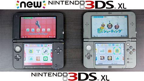 new nintendo 3ds 3ds xl new nintendo 3ds xl vs nintendo 3ds xl comparison