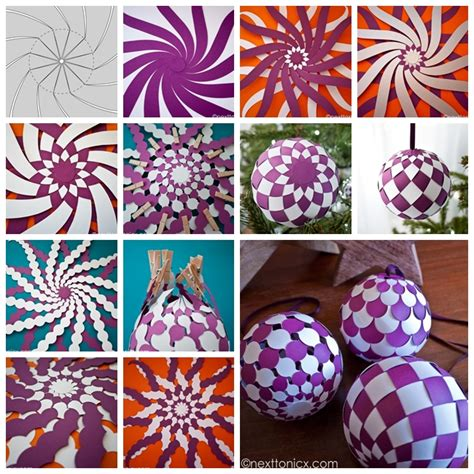How To Make A Paper Bauble - wonderful diy pretty woven paper baubles