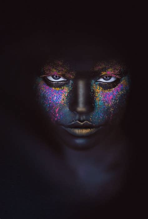 wallpaper dark face woman with a black face neon colors art art neon