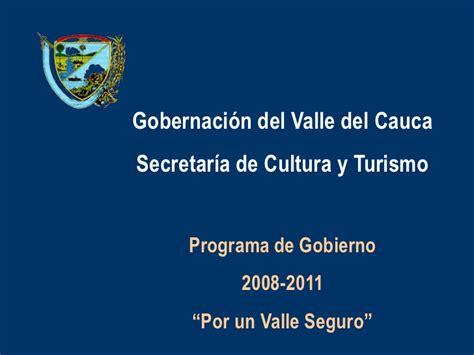 gobernacion del valle del cauca pilo anexo 2 5 programa de gobierno valle del cauca 2008 2011