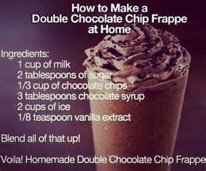 how to make starbucks at home chocolate chip frappe trusper
