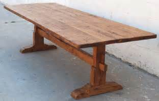 vintage pine trestle table at 1stdibs