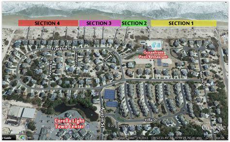 corolla light resort map corolla light rentals reserve now