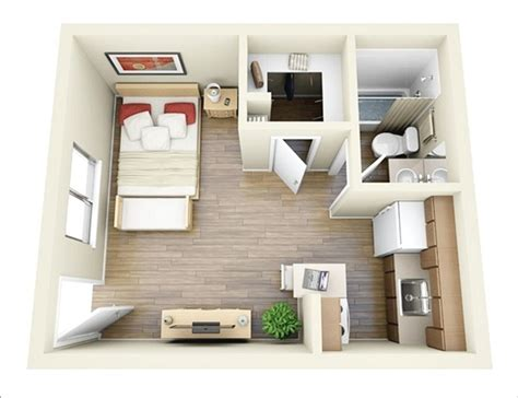 Interior Design Ideas For 1 Bedroom Apartment 10 Ideas For One Bedroom Apartment Floor Plans A